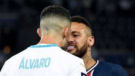 Neymar one of five red cards after mass brawl kicks off between PSG and Marseille - in pictures