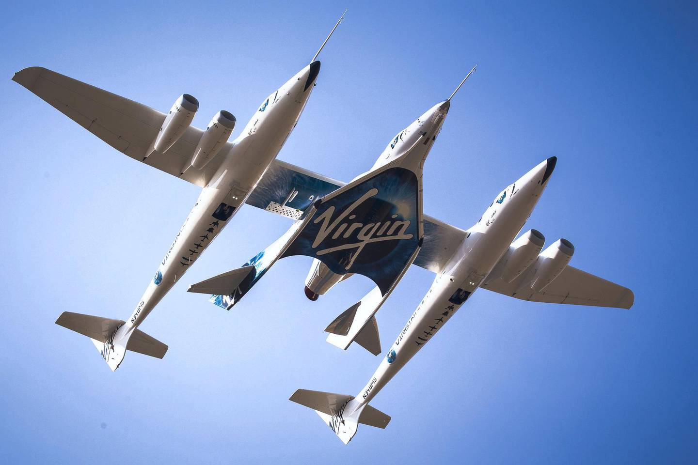 VSS Unity takes to the skies for her Third Powered Test Flight
