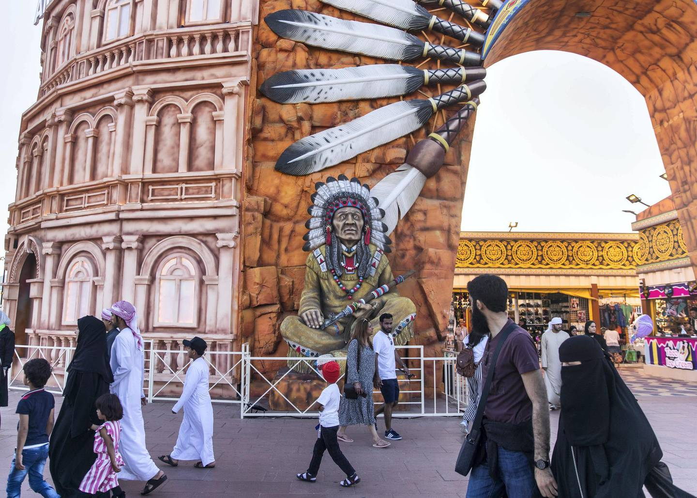DUBAI, UNITED ARAB EMIRATES. 20 JANUARY 2020. America's pavilion at Global VIllage.(Photo: Reem Mohammed/The National)Reporter:Section:
