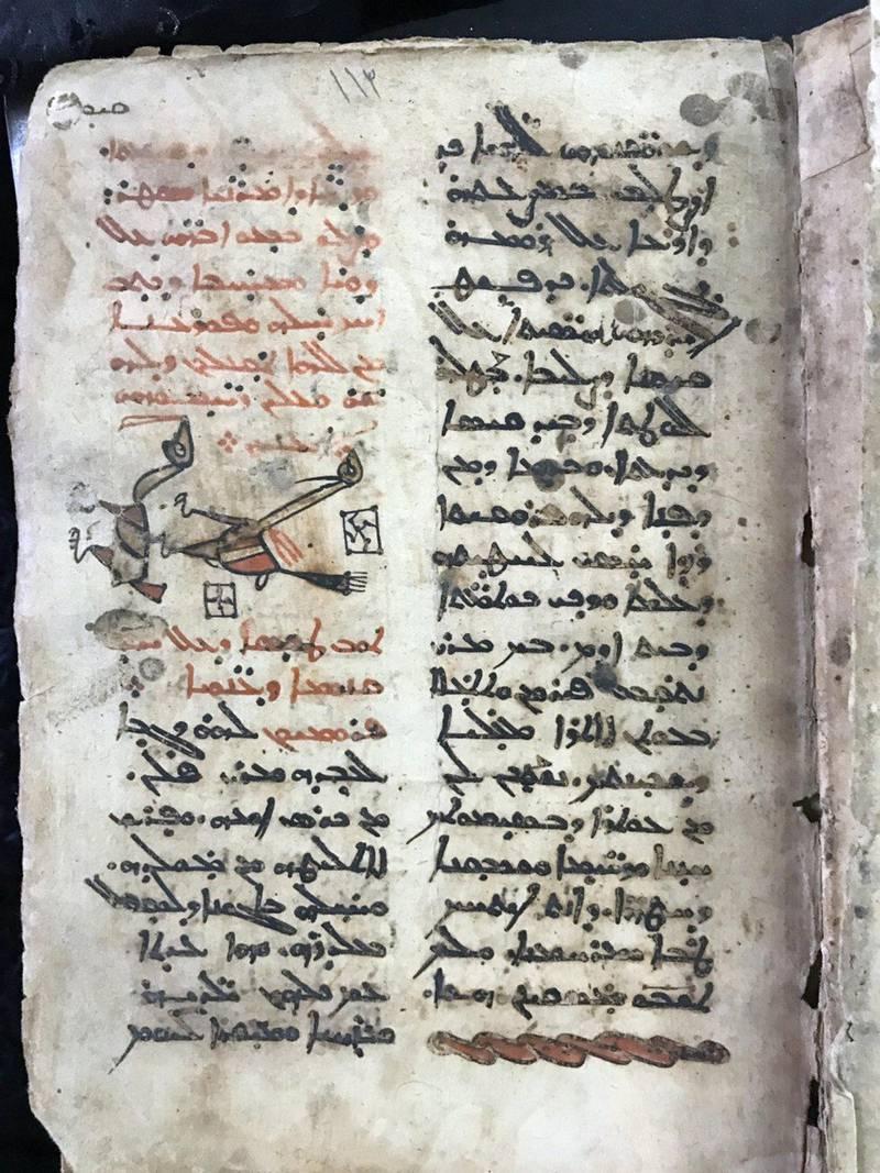 The historic Aramaic prayer manuscript. Courtesy Father Ammar Altony Yako