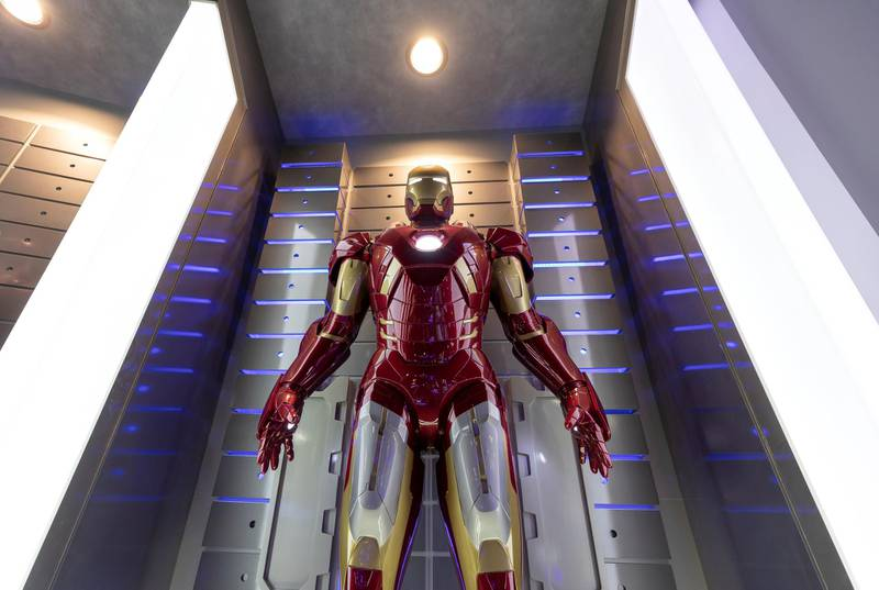 Dubai, United Arab Emirates - May 26, 2019: Photo Project. Iron Man. Comicave is the WorldÕs largest pop culture superstore involved in the retail and distribution of high-end collectibles, pop-culture merchandise, apparels, novelty items, and likes. Thursday the 30th of May 2019. Dubai Outlet Mall, Dubai. Chris Whiteoak / The National