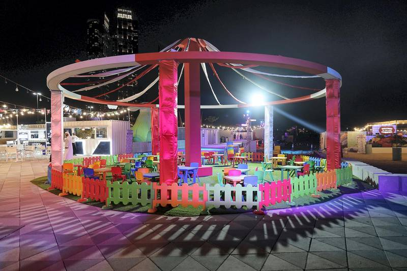 ABU DHABI , UNITED ARAB EMIRATES , APRIL 16   – 2018 :- Kids play area at the Al Bahar at the corniche in Abu Dhabi. ( Pawan Singh / The National ) For Weekender