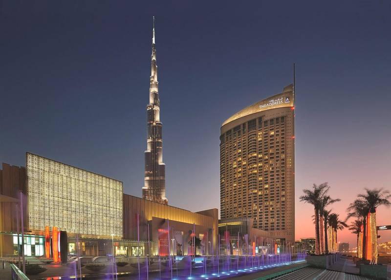A handout photo of The Address Dubai Mall (Courtesy: Le Portes Des Indes) *** Local Caption ***  AL21NO-CROWNS-PORTES.jpg