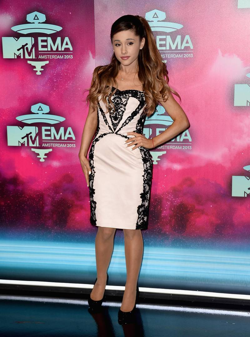 AMSTERDAM, NETHERLANDS - NOVEMBER 10:  Ariana Grande attends the MTV EMA's 2013 at the Ziggo Dome on November 10, 2013 in Amsterdam, Netherlands.  (Photo by Ian Gavan/Getty Images for MTV)