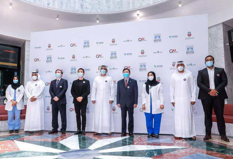 Abu Dhabi, United Arab Emirates, July 16, 2020.     Press Conference of the groundbreaking Phase III clinical trial of a COVID-19 vaccine in Abu Dhabi at the Sheikh Khalifa Medical City.Victor Besa  / The NationalSection: NAReporter:  Shireena Al Nowais