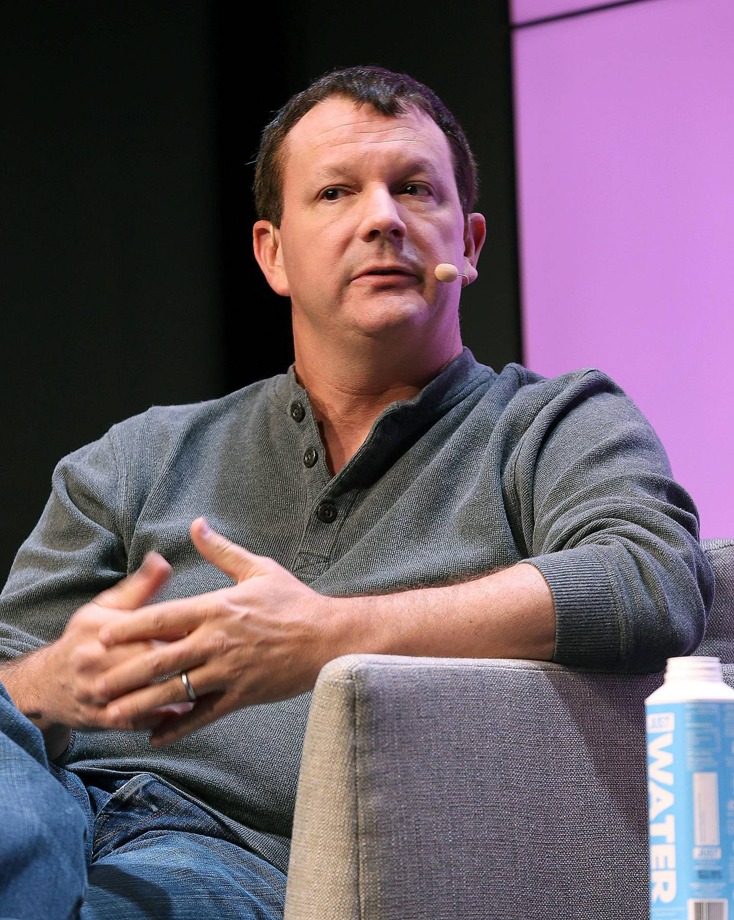 SAN FRANCISCO, CALIFORNIA - NOVEMBER 08: Brian Acton speaks onstage at the WIRED25 Summit 2019 - Day 1 at Commonwealth Club on November 08, 2019 in San Francisco, California.   Phillip Faraone/Getty Images for WIRED/AFP