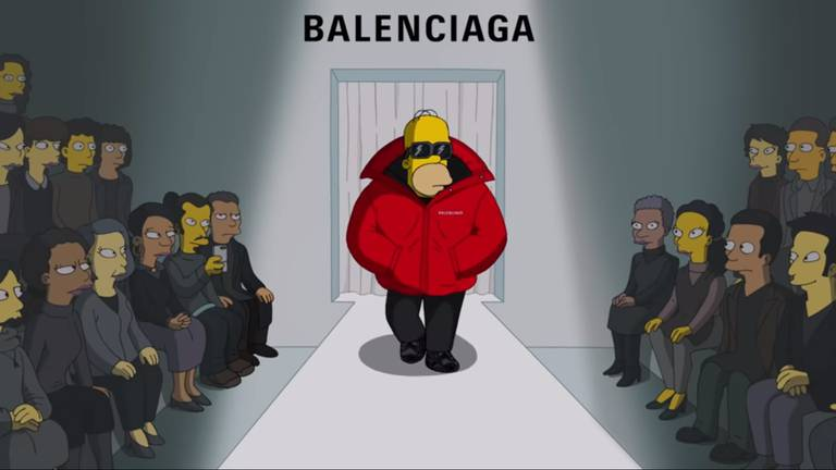 An image that illustrates this article The Simpsons make their fashion week debut for Balenciaga in Paris