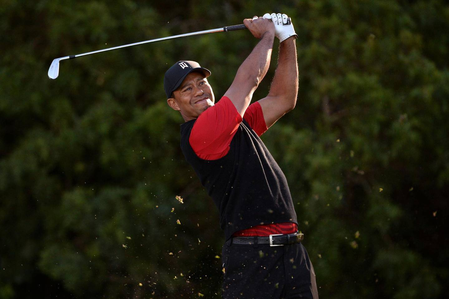 FILE PHOTO:    Jan 28, 2018; San Diego, CA, USA; Tiger Woods plays his shot from the 11th tee during the final round of the Farmers Insurance Open golf tournament at Torrey Pines Municipal Golf Course - South Co. Mandatory Credit: Orlando Ramirez-USA TODAY Sports/File Photo