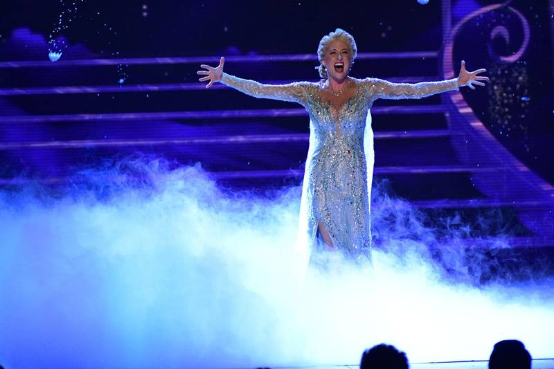NEW YORK - JUNE 10: Frozen performs at THE 72nd ANNUAL TONY AWARDS broadcast live from Radio City Music Hall in New York City on Sunday, June 10, 2018 (8:00-11:00 PM, live ET/delayed PT) on the CBS Television Network. (Photo by John Paul Filo/CBS via Getty Images)