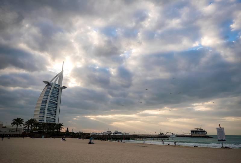 Dubai, United Arab Emirates - January 4th, 2018: Downtown during a cloudy day in Dubai. Thursday, January 4th, 2018 in Dubai. Chris Whiteoak / The National