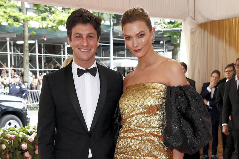Metropolitan Museum of Art Costume Institute Gala - Met Gala - Camp: Notes on Fashion- Arrivals - New York City, U.S. – May 6, 2019 - Joshua Kushner and Karlie Kloss. REUTERS/Andrew Kelly