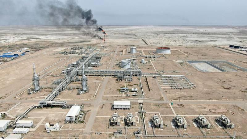 A view shows the Iraq's Majnoon oilfield near Basra, Iraq, March 31, 2021. Picture taken March 31, 2021.  Picture taken with a drone. REUTERS/Essam Al-Sudani