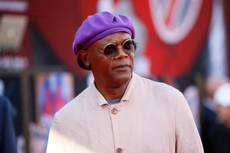 """FILE PHOTO: Actor Samuel L. Jackson poses at the World Premiere of Marvel Studios' """"Spider-man: Far From Home"""" in Los Angeles, California, U.S., June 26, 2019. REUTERS/Danny Moloshok/File Photo"""