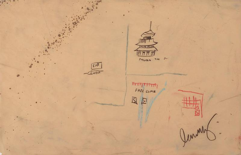 Free Comb with Pagoda - 1986 Jean-Michael Basquiat