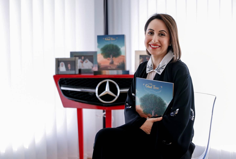 Abu Dhabi, United Arab Emirates, October 15, 2019.  Hanadi Al Fahim, author of the children's book, The Little Ghaf Tree.Victor Besa / The NationalSection:  NAReporter:  Shireena Al Nowais