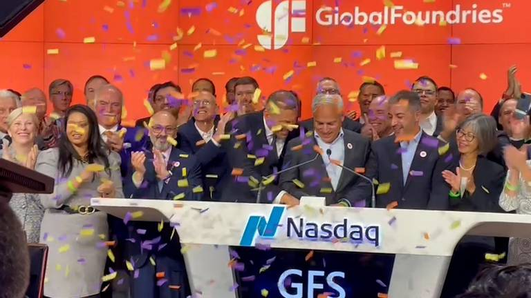 An image that illustrates this article GlobalFoundries begins trading on the Nasdaq