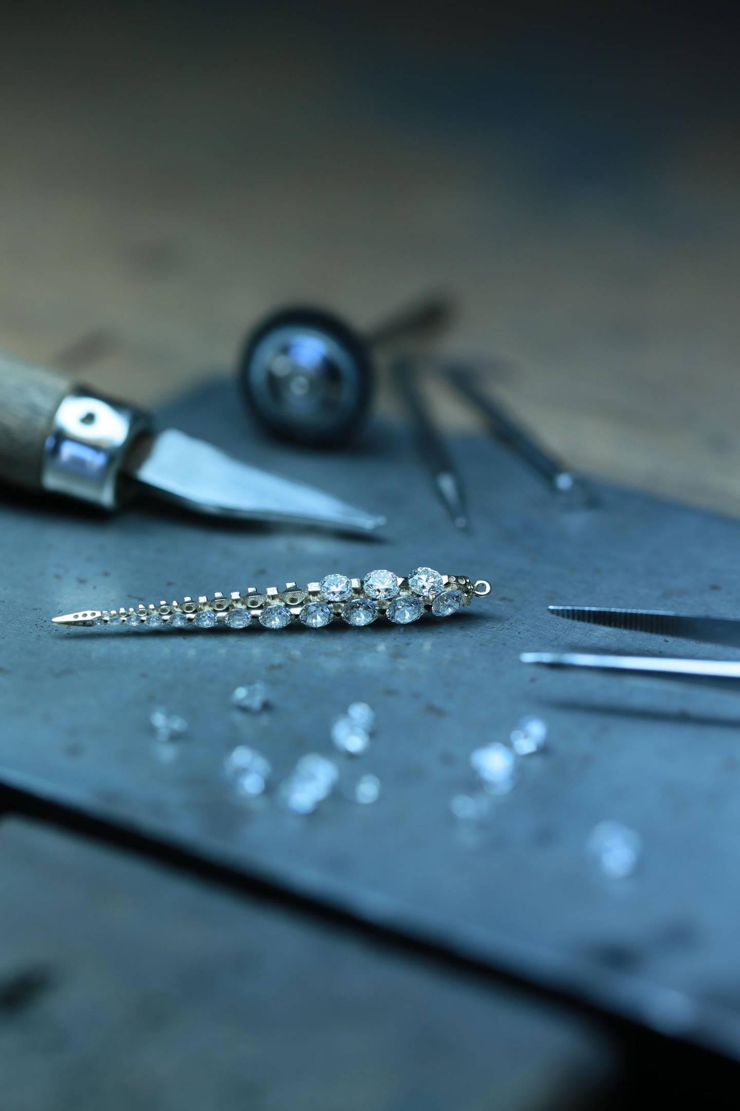 Boghossian Les Merveilles workshop diamond Creoles earrings. Courtesy Boghossian