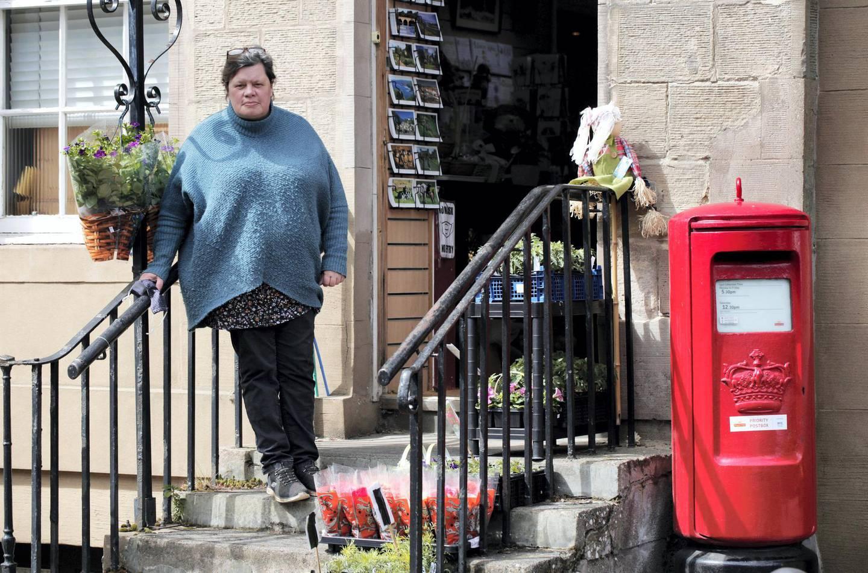 Louisa Coates owner of The Old Post Office Flower Room on Coldstream High Street. Photograph: Stuart Boulton
