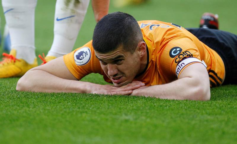 """Soccer Football - Premier League - Wolverhampton Wanderers v Brighton & Hove Albion - Molineux Stadium, Wolverhampton, Britain - March 7, 2020  Wolverhampton Wanderers' Conor Coady    Action Images via Reuters/Craig Brough  EDITORIAL USE ONLY. No use with unauthorized audio, video, data, fixture lists, club/league logos or """"live"""" services. Online in-match use limited to 75 images, no video emulation. No use in betting, games or single club/league/player publications.  Please contact your account representative for further details."""
