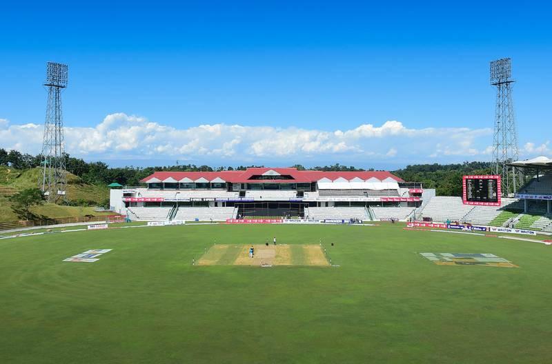 A general view shows the Sylhet International Cricket Stadium in Sylhet on November 2, 2018. - The first Test cricket match between Bangladesh and Zimbabwe is starting in Sylhet on November 3. (Photo by MUNIR UZ ZAMAN / AFP)