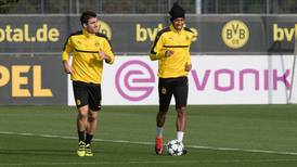 Pierre Emerick-Aubameyang and Borussia Dortmund training for Sporting – in pictures