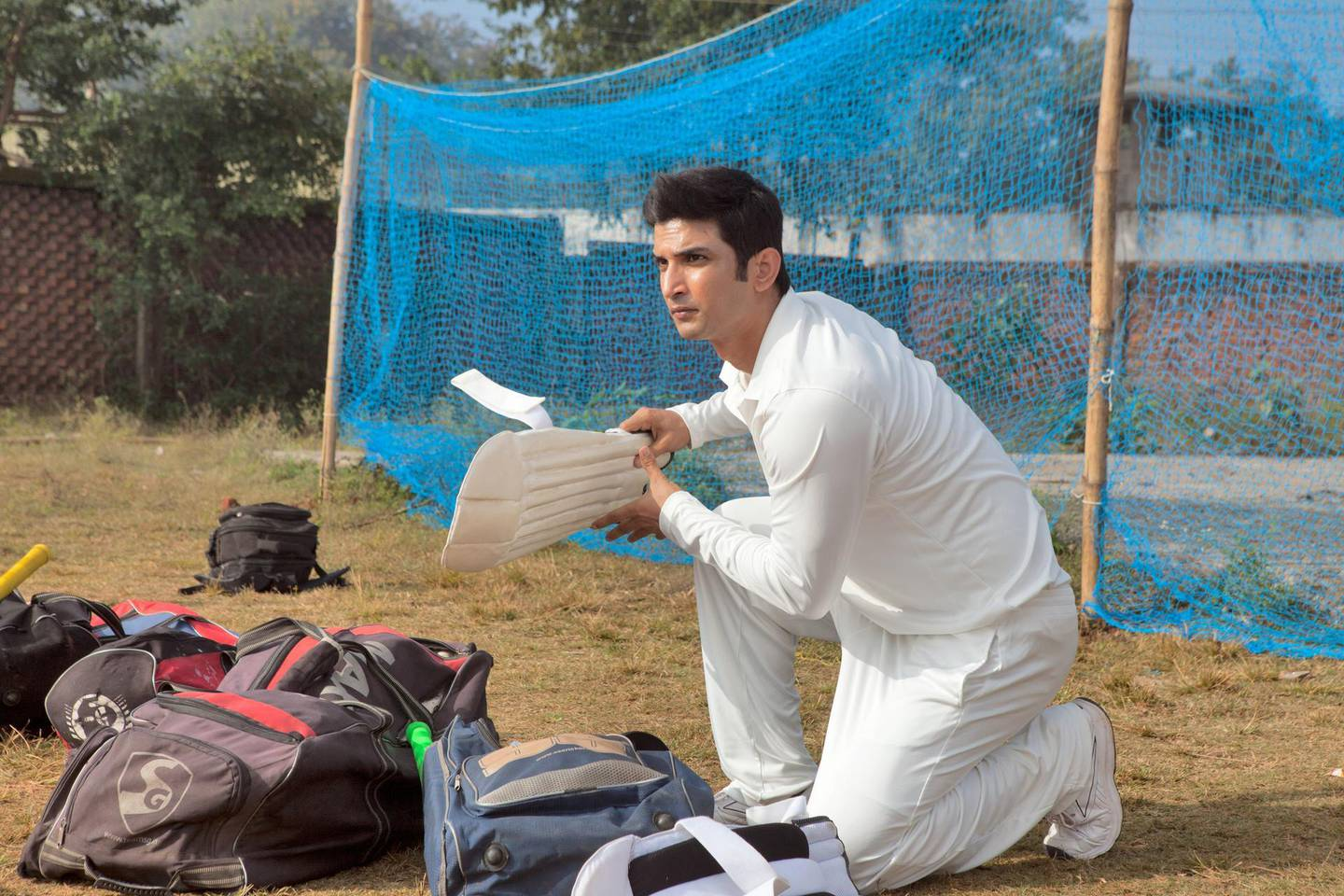 """A handout photo of Sushant Singh Rajput in """"MS Dhoni - The Untold Story"""" (Courtesy: Empire International Gulf) *** Local Caption ***  al27se-movies-dhoni.jpg"""