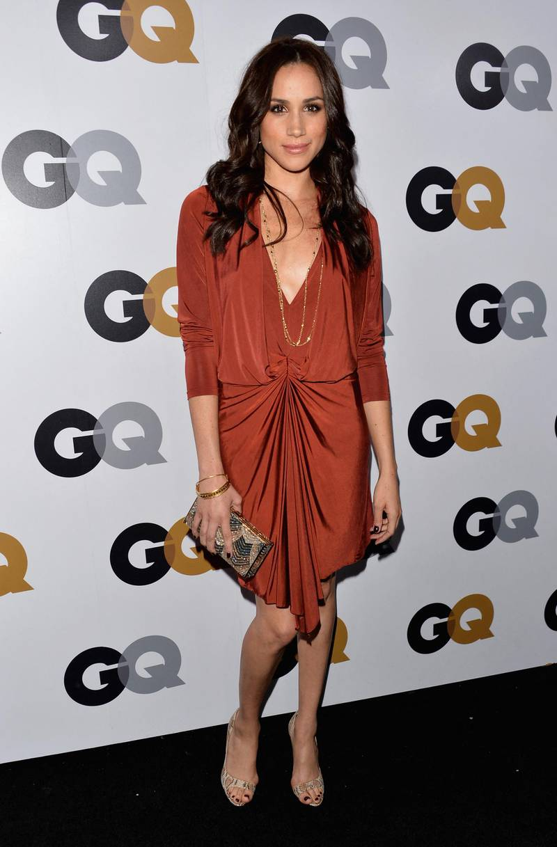 LOS ANGELES, CA - NOVEMBER 13: Actress Meghan Markle arrives at the GQ Men of the Year Party at Chateau Marmont on November 13, 2012 in Los Angeles, California.   Alberto E. Rodriguez/Getty Images/AFP (Photo by Alberto E. Rodriguez / GETTY IMAGES NORTH AMERICA / Getty Images via AFP)