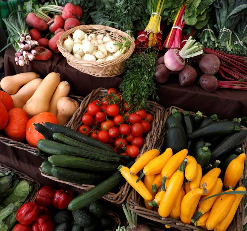 Vegetables are shown at VeggieWorld fair in Lisbon, Portugal April 29, 2018.  REUTERS/Rafael Marchante