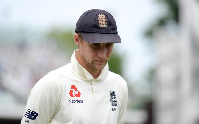 LONDON, ENGLAND - MAY 27:  England captain Joe Root reacts after losing the 1st NatWest Test match at Lord's Cricket Ground on May 27, 2018 in London, England.  (Photo by Gareth Copley/Getty Images)
