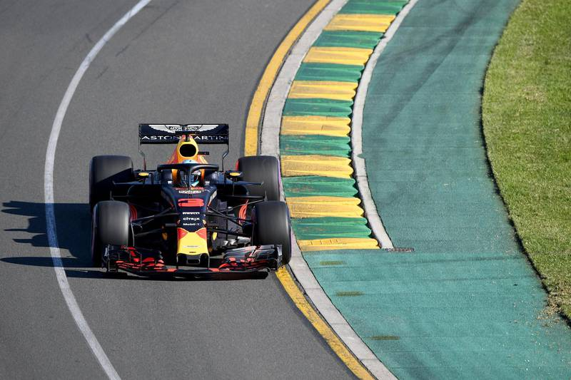 epa06622769 Australian driver Daniel Ricciardo of the Red Bull Racing team in action during the second practice session for the 2018 Formula One Grand Prix of Australia at the Albert Park circuit in Melbourne, Australia, 23 March 2018.  EPA/JOE CASTRO  AUSTRALIA AND NEW ZEALAND OUT