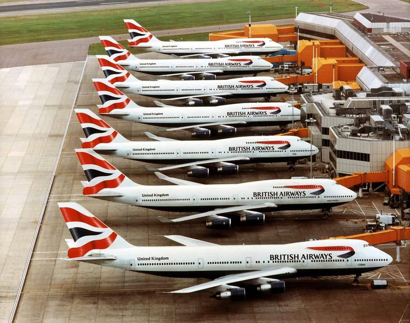 British Airways Boeing 747's at London Heathrow airport showing the new Chatham Dockyard tailfin designCredit: NewsCastwww.newscast.co.uk+44 (0)20 7608 1000No archiving