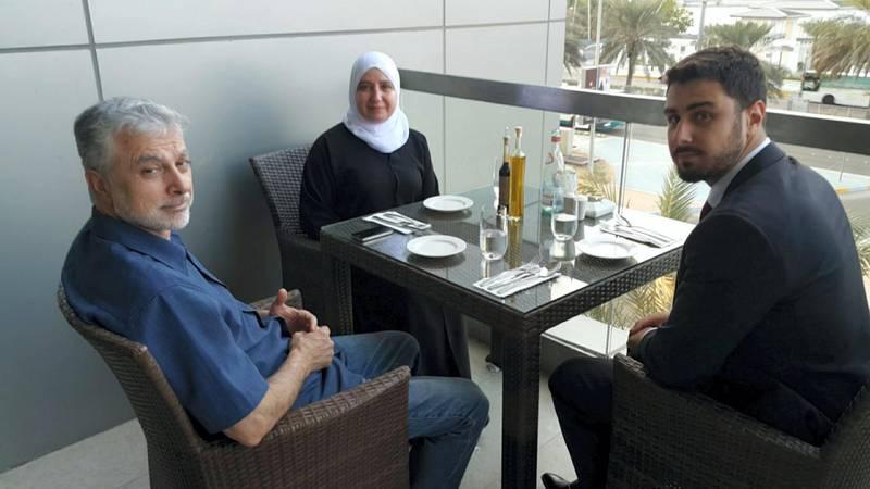 Syrian hostage Majd Kamalmaz and former Emirati business partner, courtesy: Ibrahim Kamalmaz