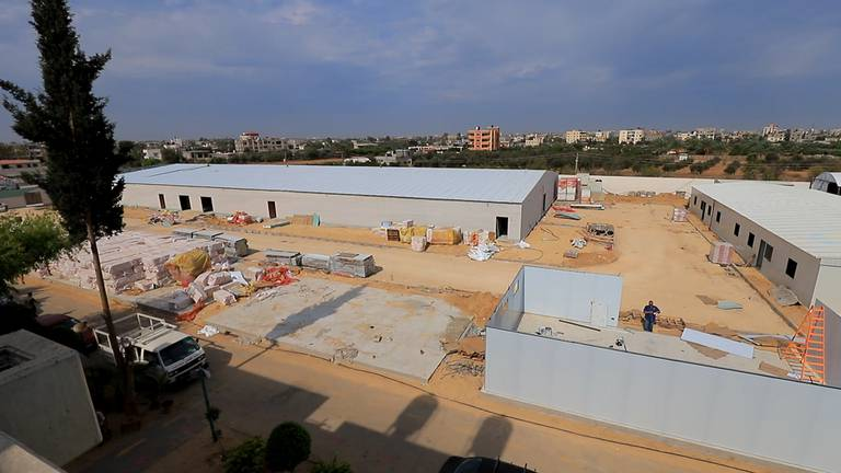 An image that illustrates this article UAE-funded hospital helps Gaza brace for 'fourth' Covid-19 wave