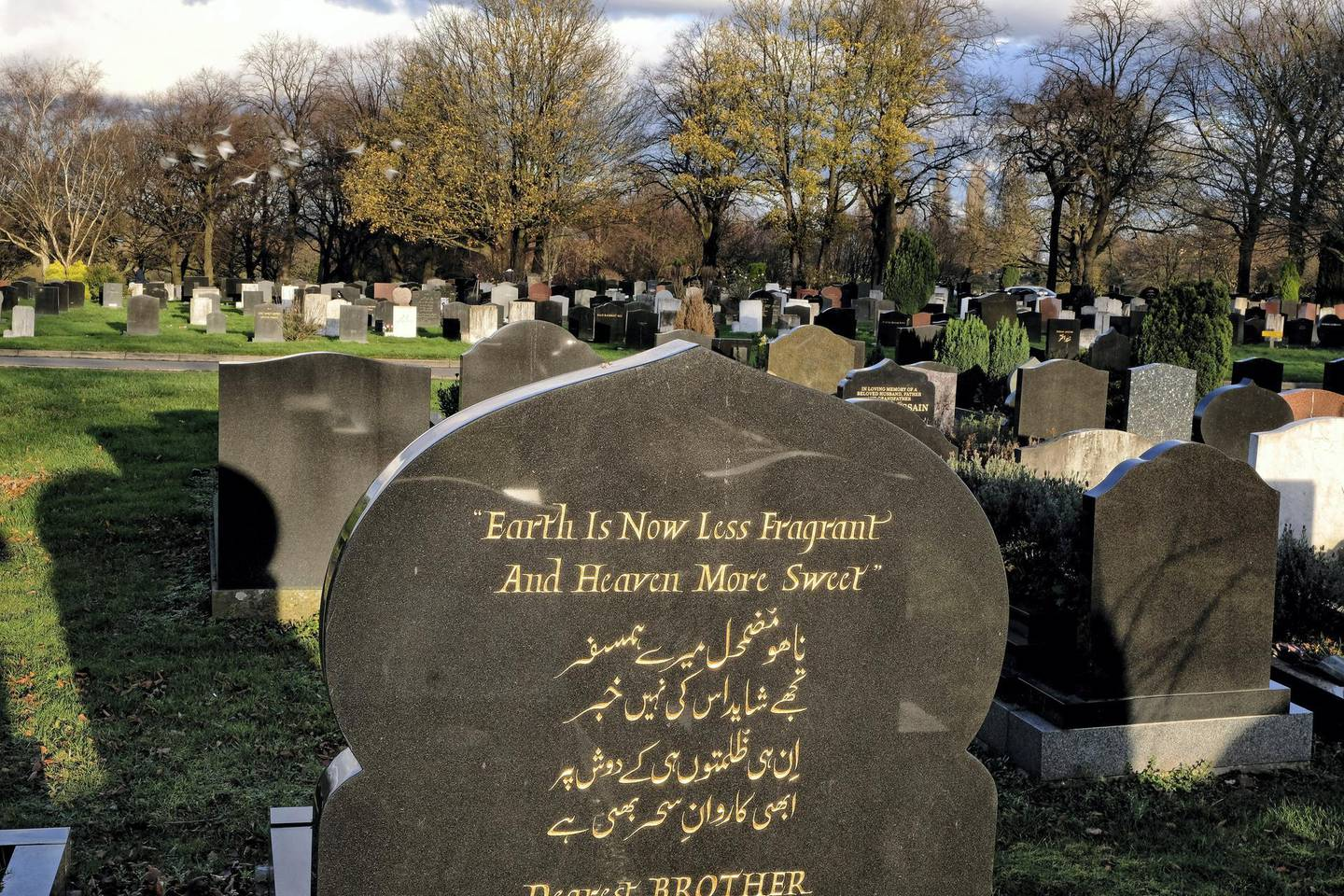 Muslim graves at Handsworth Cemetery, Birmingham, 19-11-2020.Photos by John Robertson for The National.