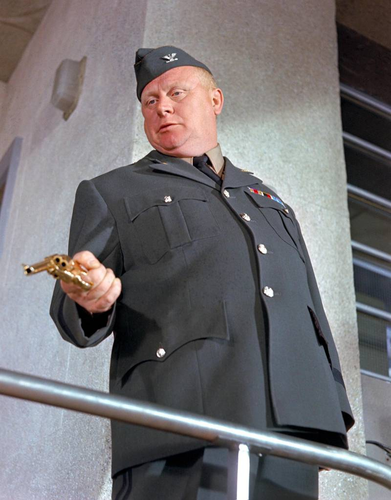Gert Fröbe in Goldfinger. Courtesy United Artists