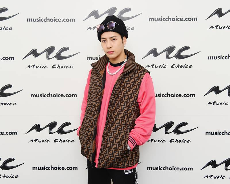 NEW YORK, NEW YORK - FEBRUARY 20: Rapper Jackson Wang Visits Music Choice on February 20, 2019 in New York City.   Nicholas Hunt/Getty Images/AFP