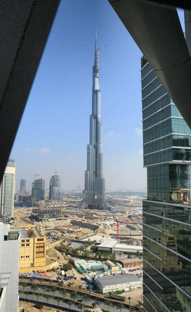 Dubai, 26th January 2009.  Burj Dubai during the media tour at Business Bay.  (Jeffrey E Biteng / The National) *** Local Caption ***  JB11-BBay.jpg