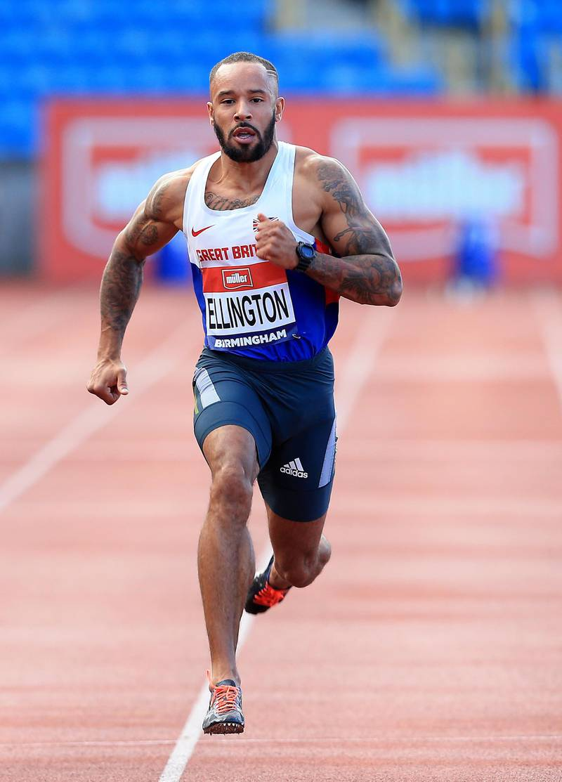 BIRMINGHAM, ENGLAND - JUNE 24:  James Ellington of Great Britain wins his heat in the mens 100m during day one of the British Championships Birmingham at Alexander Stadium on June 24, 2016 in Birmingham, England. (Photo by Stephen Pond - British Athletics/British Athletics via Getty Images)