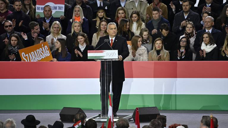 An image that illustrates this article Hungary's Viktor Orban accused of Communist-era tactics to smear rival