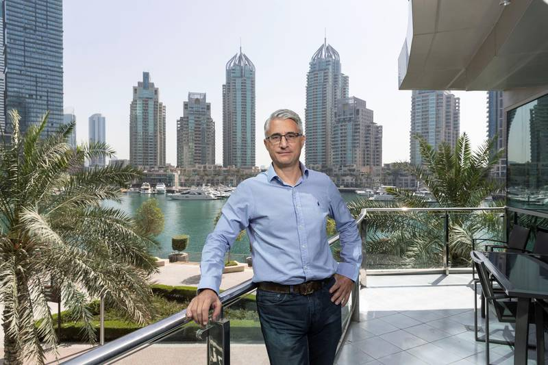 DUBAI, UNITED ARAB EMIRATES. 31 MARCH 2021. Marcello Arcangeli, CEOof Your Place for Money & Me. (Photo: Antonie Robertson/The National) Journalist: Keith J Fernandez. Section: National.