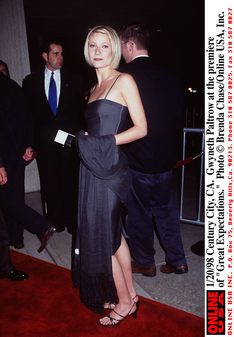 """1/20/98 Century City, CA. Gwyneth Paltrow at the premiere of """"Great Expectations."""""""
