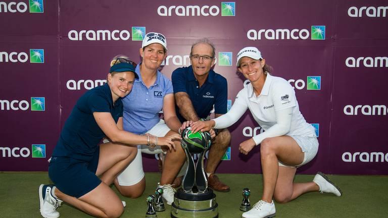 An image that illustrates this article Ladies European Tour predicting bright future for Aramco Team Series