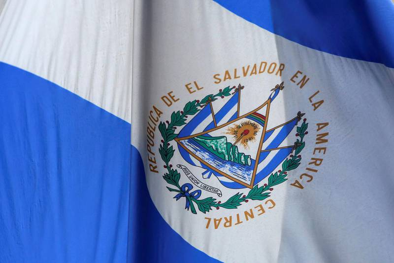 The El Salvador national flag hangs outside the Consulate General of El Salvador, following U.S. President Donald Trump's announcement to end the Temporary Protected Status (TPS) for Salvadoran immigrants in Manhattan, New York City, U.S. January 8, 2018. REUTERS/Andrew Kelly
