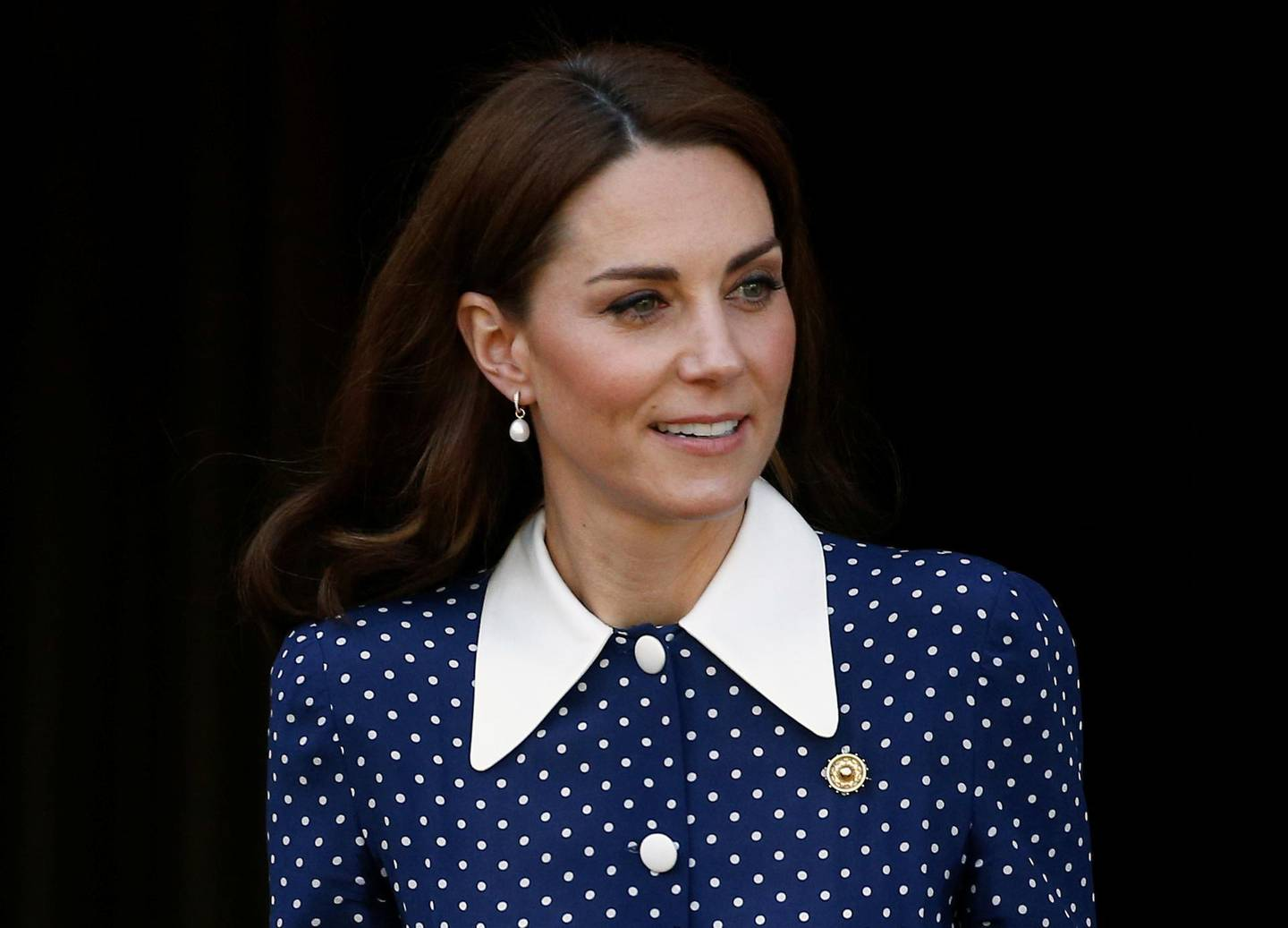 Britain's Catherine, Duchess of Cambridge, leaves Bletchley Park after viewing a D-Day Exhibition in Milton Keynes, Britain May 14, 2019. REUTERS/Henry Nicholls