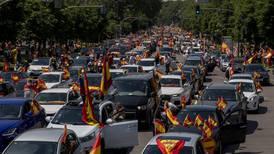 Spanish far-right in motorised anti-lockdown protest
