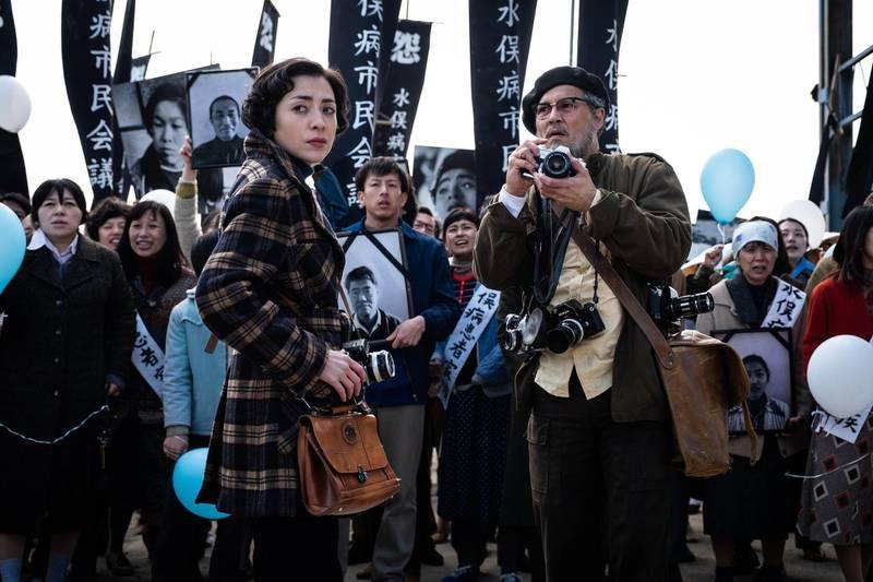 Johnny Depp and Minami in a scene from the Minamata. Photo by Larry Horricks