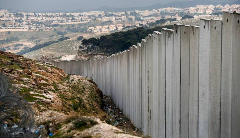 This picture taken on February 11, 2020 shows a view of the Israeli settlement of Maale Adumim in the occupied West Bank on the outskirts of Jerusalem. / AFP / AHMAD GHARABLI
