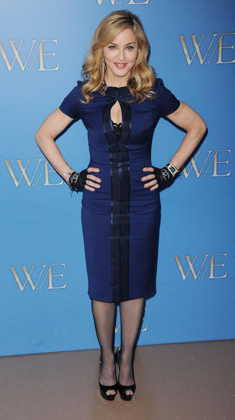 LONDON, UNITED KINGDOM - JANUARY 11: Madonna attends a photocall for W.E at The London Studios on January 11, 2012 in London, England. (Photo by Stuart Wilson/Getty Images)