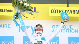 Tour de France: UAE Team Emirates' Tadej Pogacar 'happy where I am' after strong finish in stage 2