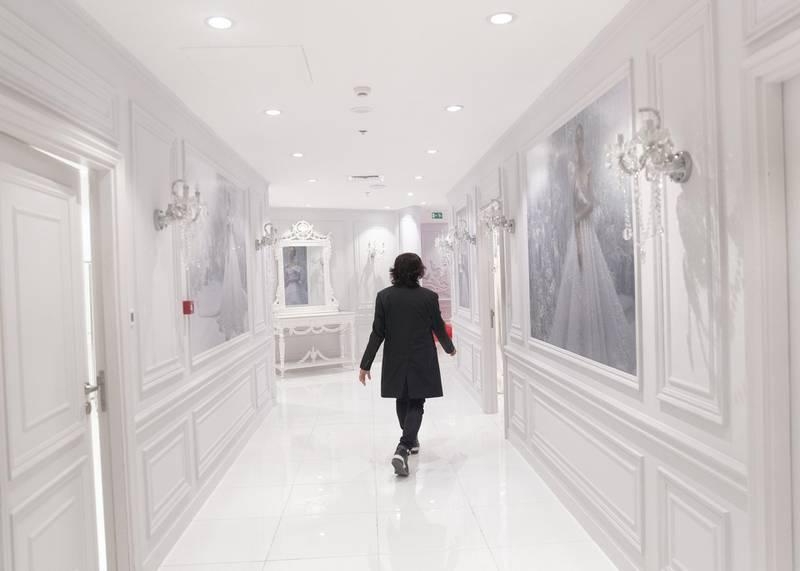 DUBAI, UNITED ARAB EMIRATES - JULY 25 2019. Dubai-based Filipino designer Michael Cinco at his atelier in Dubai Design District.  (Photo by Reem Mohammed/The National)   Reporter: EMMA Section: LX